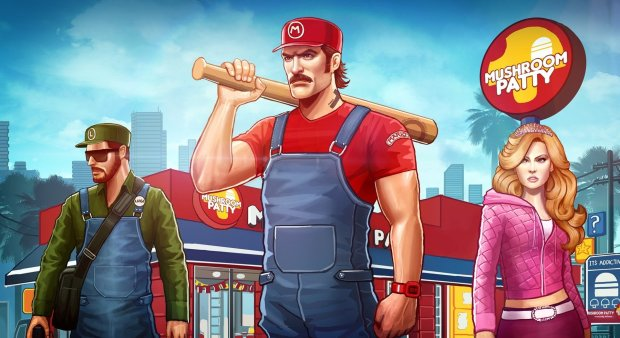 super-mario-crossovers-grand-theft-auto-mario-bros-princess-peach-luigi-mushrooms